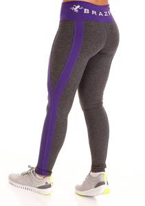 Namaste Purple Striped Legging