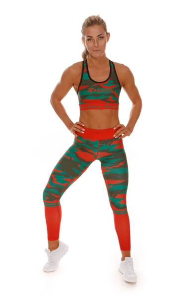 Brazfit Energy & Power Red Camo Tights