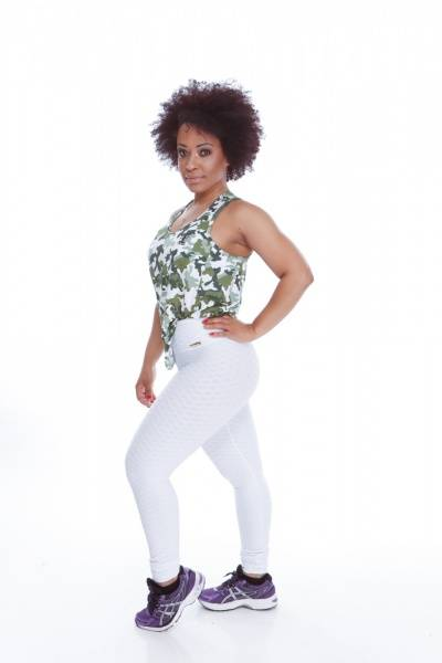 Textured 3D White Set - Legging & Sports-bra