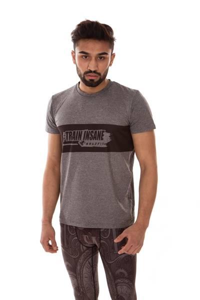 Brazfit Train Insane Grey Dry T-shirt