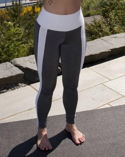 Namaste White Striped Legging