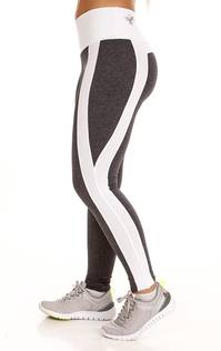 Namaste White Striped Legging