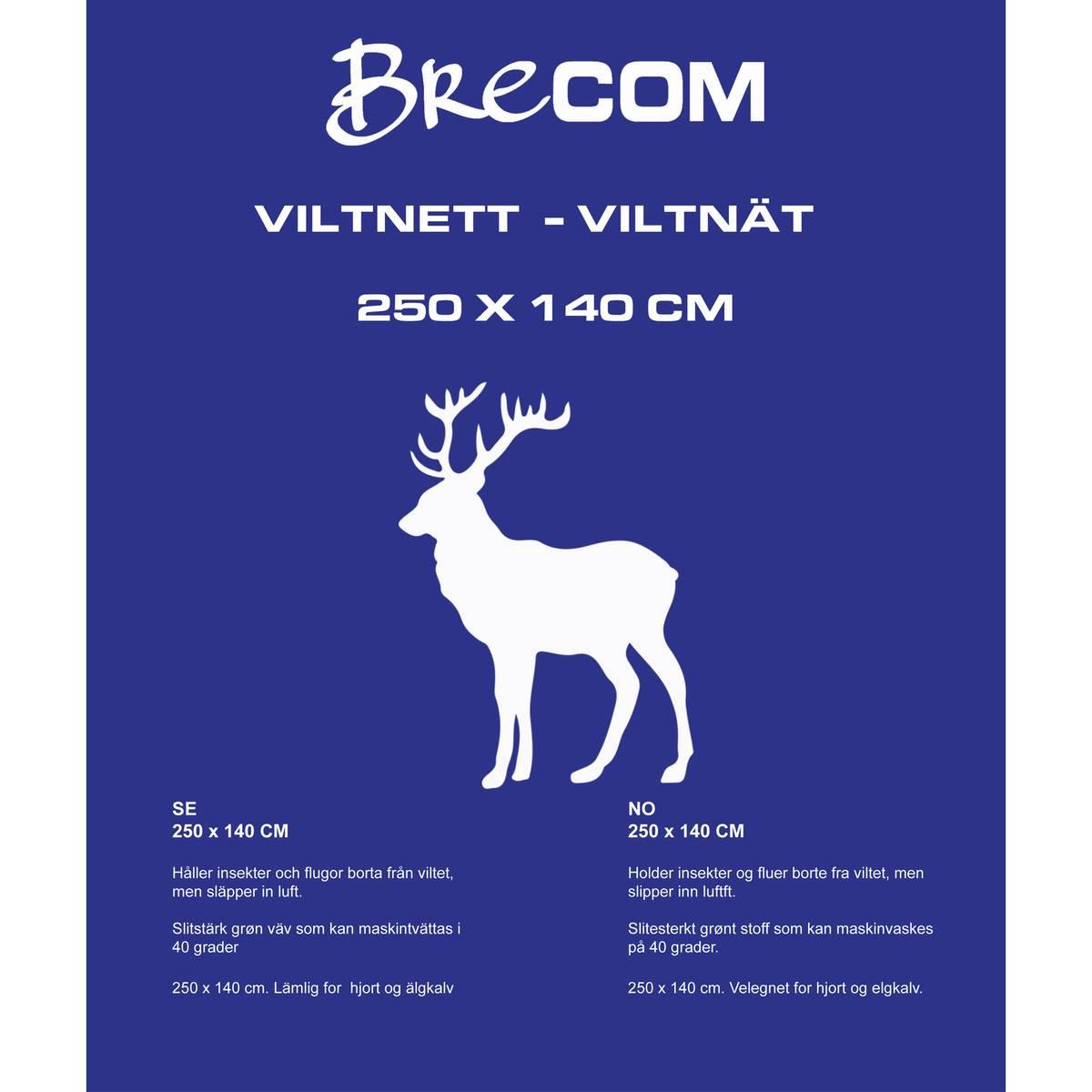 Brecom viltnett. Hjort/elgkalv. 140X250 cm.