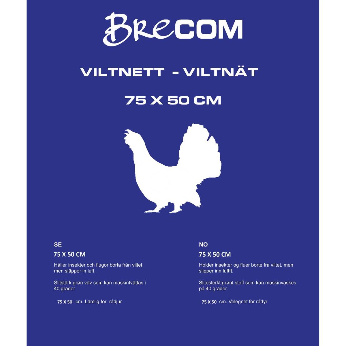 Brecom viltnett. Fugl/hare. 75x50 cm