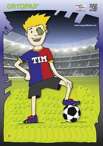Bilde av Motivasjonsplakat Fotball gutt