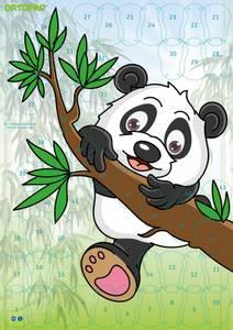 Bilde av Motivasjonsplakat Panda