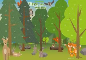 Bilde av Motivasjonsplakat Dyr i skogen