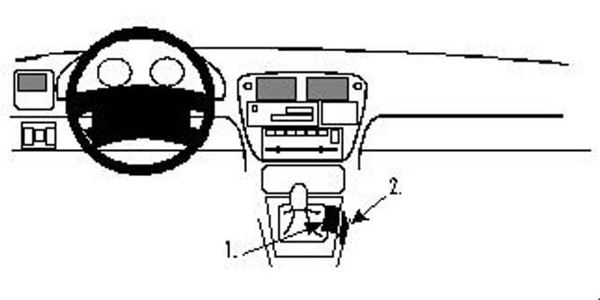 Bilde av Brodit ProClip Console Mount - Honda Civic 3&4