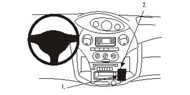 Bilde av Brodit ProClip angled mount - Toyota Yaris