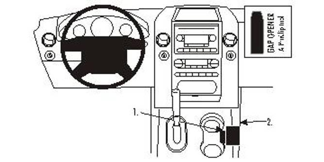Bilde av Brodit ProClip Console Mount Ford F-Series 150