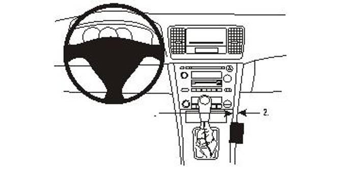 Bilde av Brodit ProClip Console Mount Subaru