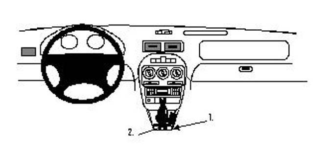 Bilde av Brodit ProClip Console Mount - MG ZR / Rover
