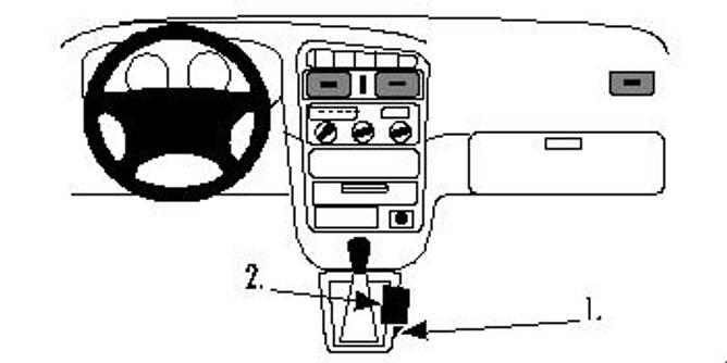 Bilde av Brodit ProClip Console mount - Toyota Avensis