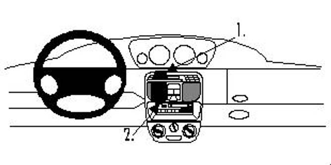 Bilde av Brodit ProClip Center mount - Lancia Y 1996-2003