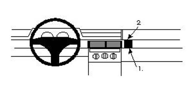 Bilde av Brodit ProClip Angled mount - Fiat Tipo 1992-1995