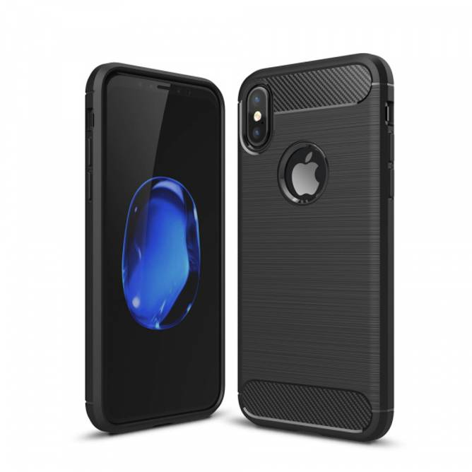 Bilde av Carbon Fiber Case - iPhone X - Svart