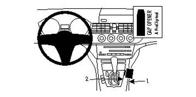 Bilde av Brodit ProClip Console Mount - BMW Z4 09-16
