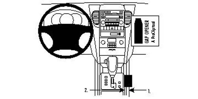 Bilde av Brodit ProClip Console Mount Kia Sorento 08-09