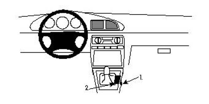 Bilde av Brodit ProClip Console Mount KIA Clarus 97-00 /