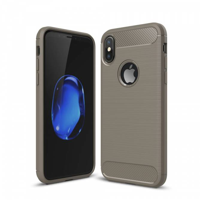 Bilde av Carbon Fiber Case - iPhone X - Grå