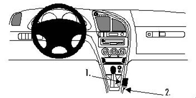 Bilde av Brodit ProClip Console Mount - Citroen Xsara