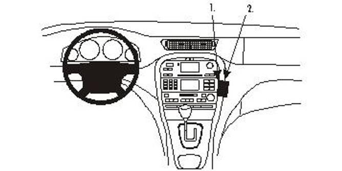 Bilde av Brodit ProClip Angled mount - Jaguar S-Type