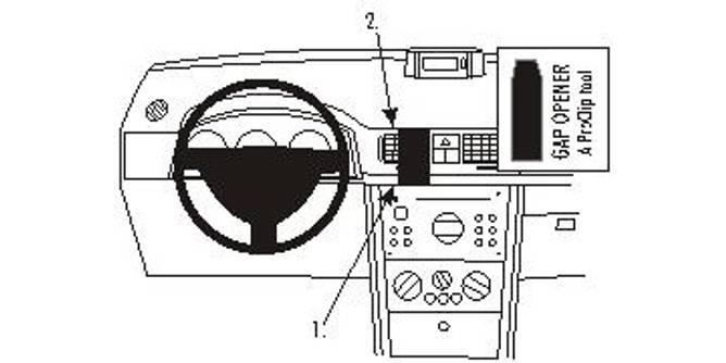 Bilde av Brodit ProClip Center mount Opel Meriva 2003-2010