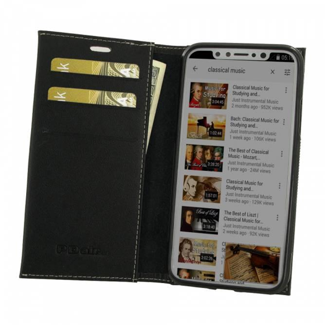 Bilde av Lommebok Skinn Etui - iPhone X