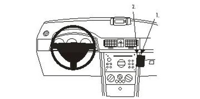 Bilde av Brodit ProClip Angled mount Opel Meriva 2003-2010
