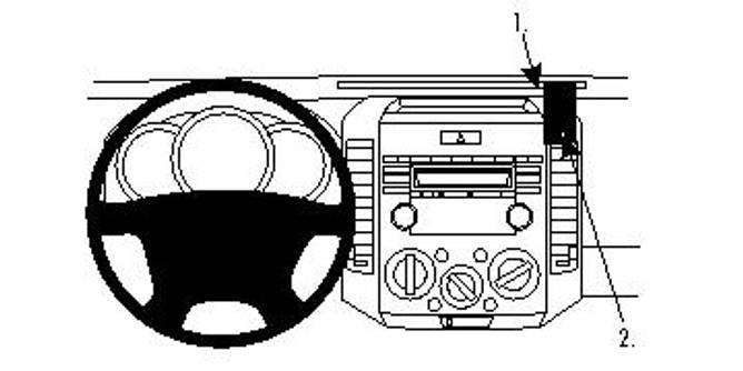Bilde av BRODIT ProClip Angled mount Ford Ranger/Mazda BT