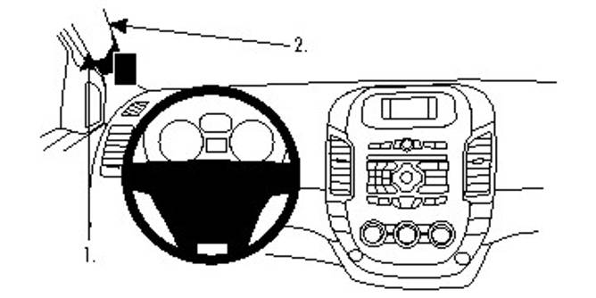 Bilde av BRODIT ProClip Left mount Ford Ranger 12-15