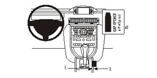 Bilde av Brodit ProClip Console Mount - Citroen C6