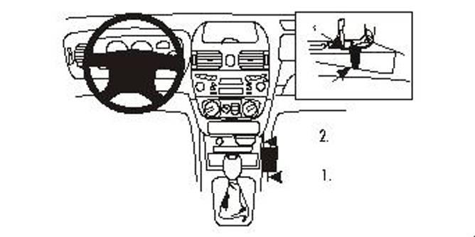 Bilde av Brodit ProClip Console Mount, angled - Nissan