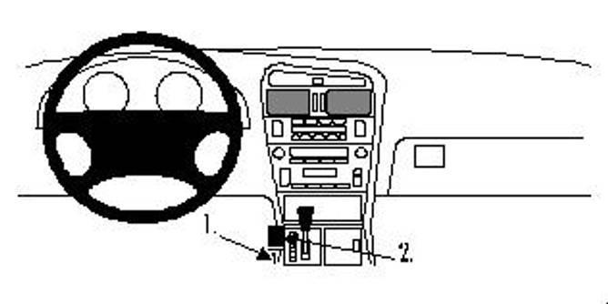 Bilde av Brodit ProClip Console Mount Lexus GS Series