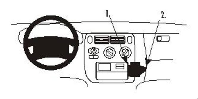 Bilde av Brodit ProClip Angled Mount - Honda HR-V/Logo