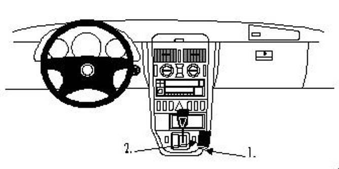Bilde av Brodit ProClip Console Mount Mercedes Benz