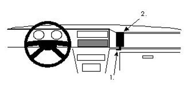 Bilde av Brodit ProClip Angled Mount VW Caddy 86-94