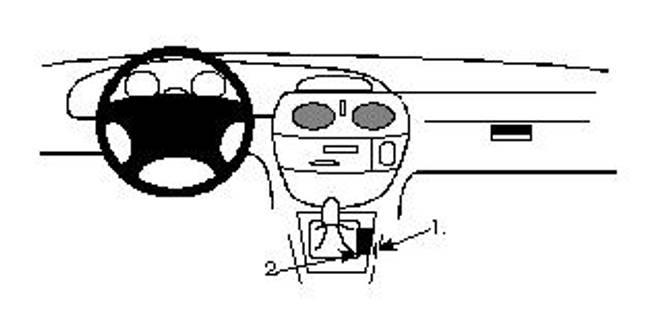 Bilde av Brodit ProClip Console mount - Renault Mégane I
