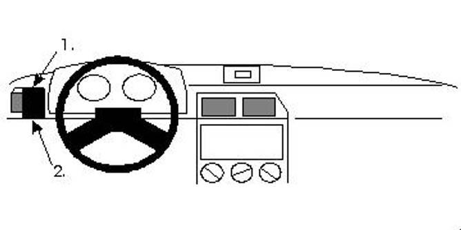 Bilde av Brodit ProClip Left Mount - Citroen ZX 1991-1997