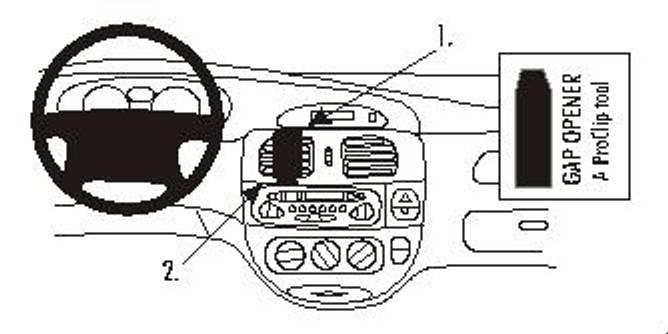 Bilde av Brodit ProClip Center mount - Renault Mégane I