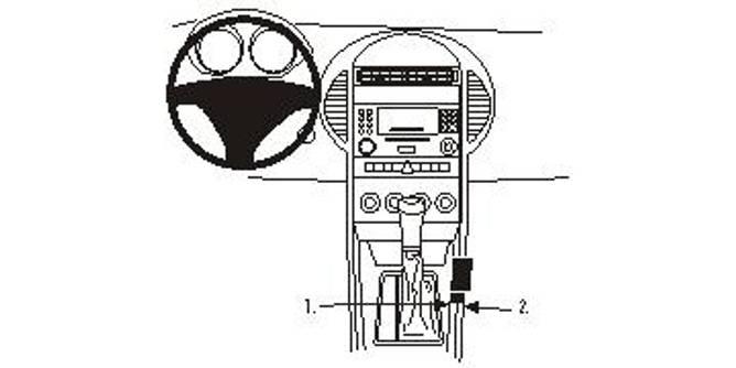 Bilde av Brodit ProClip Console Mount R171 Mercedes Benz