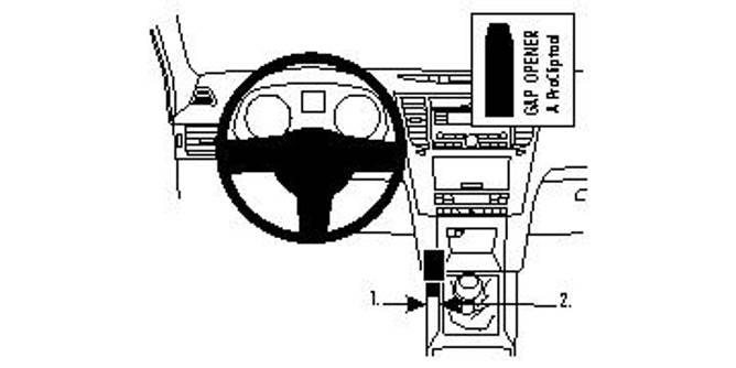 Bilde av Brodit ProClip Console mount, Left - Subaru