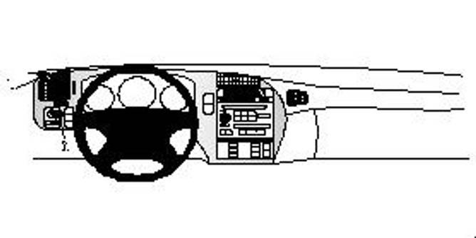 Bilde av Brodit ProClip Left mount- Saab 9-5 1998-2005