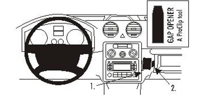Bilde av Brodit ProClip Angled Mount VW Caddy 04-15