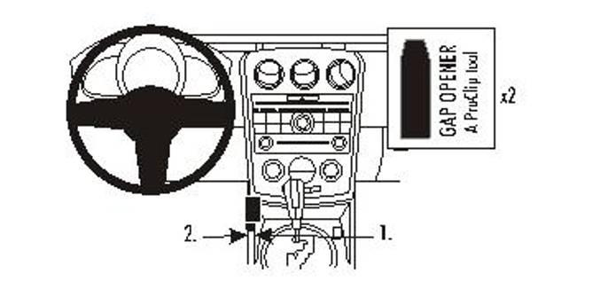 Bilde av Brodit ProClip Console Mount Left - Mazda CX-7