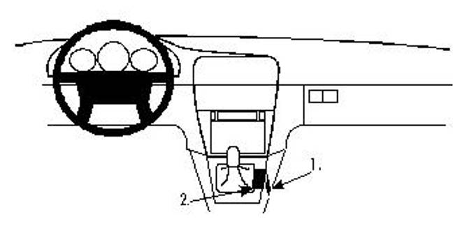 Bilde av Brodit ProClip Console mount - Volvo S40/V40