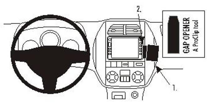 Bilde av Brodit ProClip Angled Mount - Toyota RAV 4