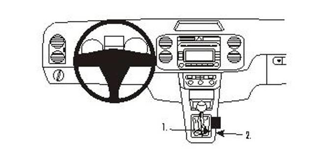 Bilde av Brodit ProClip Console Mount VW Golf Plus 05-14