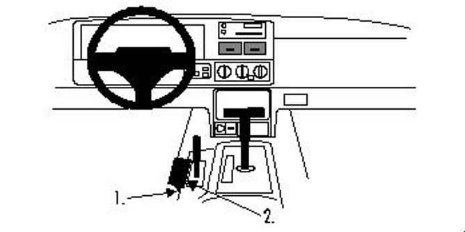 Bilde av Brodit ProClip Console mount - Jeep Grand