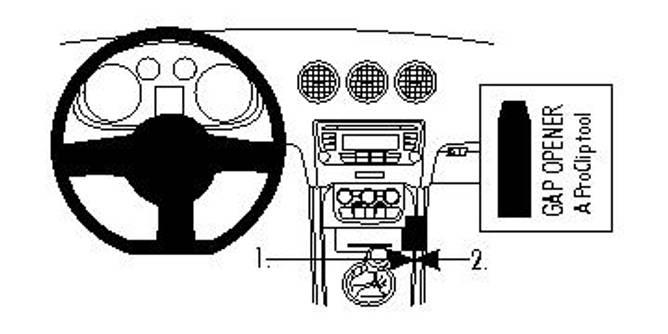 Bilde av Brodit ProClip Console Mount - Audi TT 2007-2014
